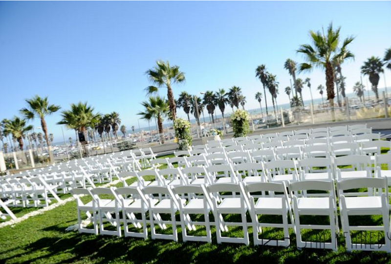 Private Beach Wedding Setting