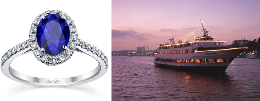 Blue Sapphire and Yacht Wedding