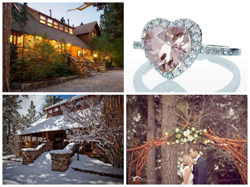 Heart Engagement Ring and Mountain Wedding