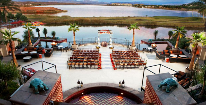Lake Las Vegas Wedding Ceremony On