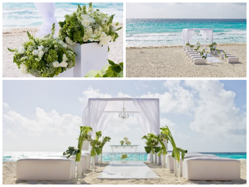 Beach Wedding in Cancun, Mexico