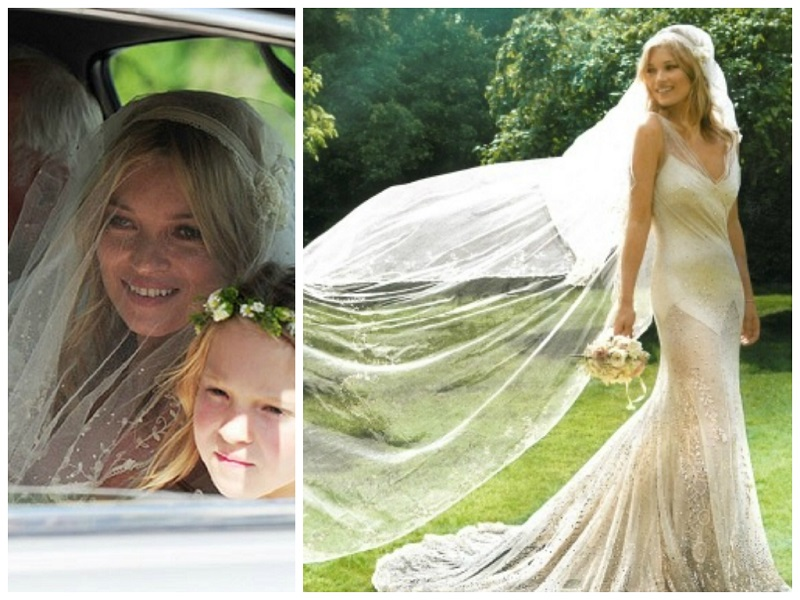 Kate Moss Veil Collage