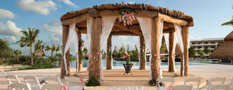 Poolside Gazebo in the Riviera Maya