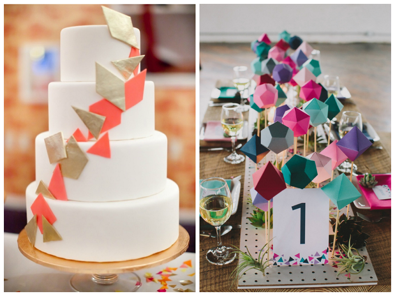 2014 Summer Wedding Trends:Geometric Shapes