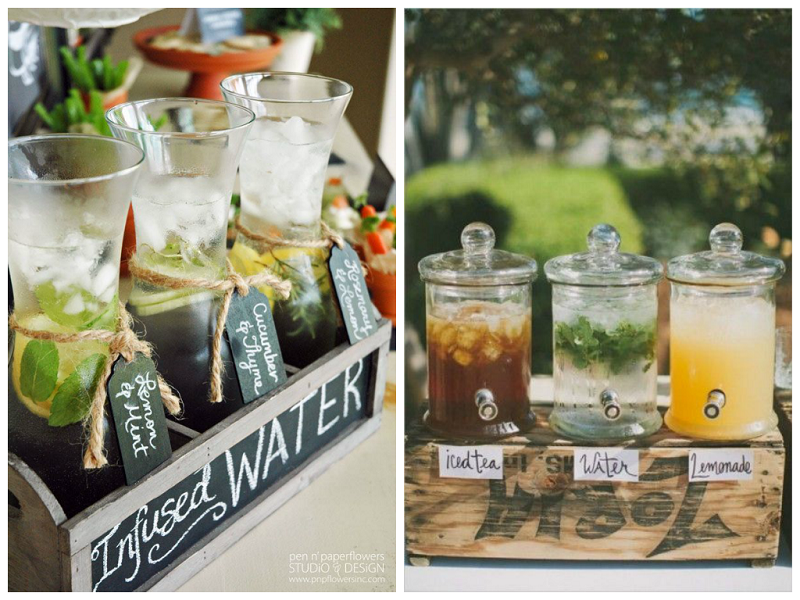 2014 Summer Wedding Trends: Infused Water Stations