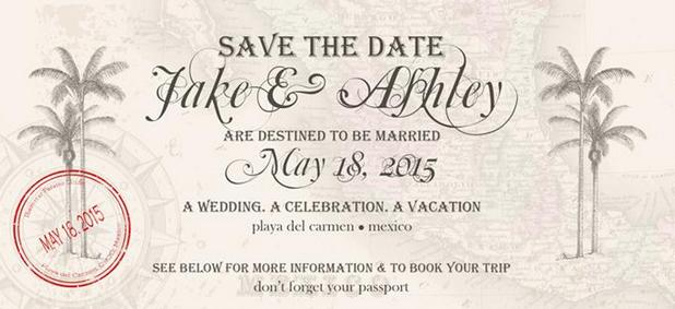 Here's a Destination Wedding Save the Date We Love!