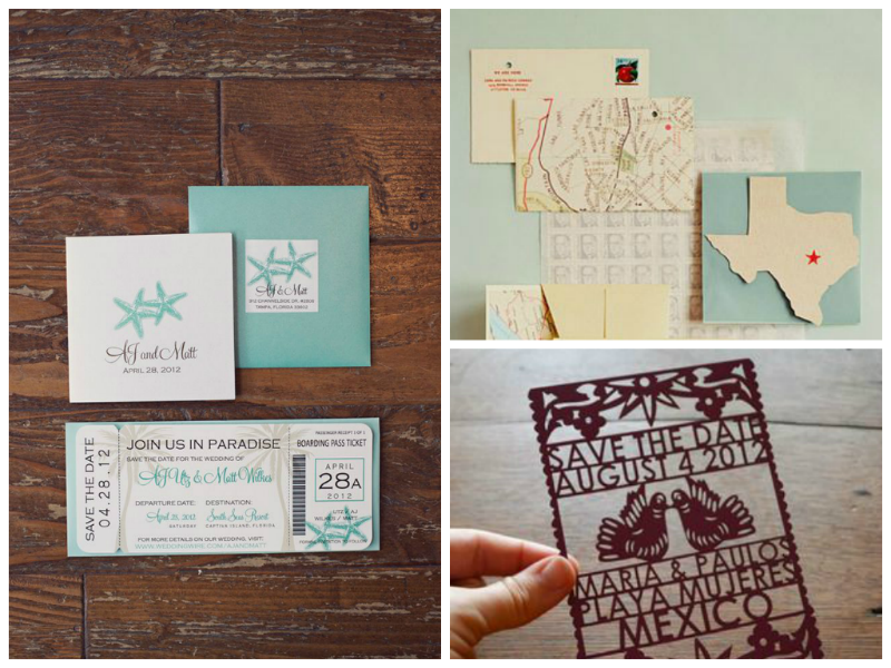 Destination Wedding Invitation & Save The Date Etiquette