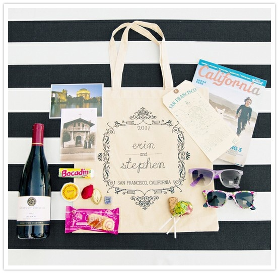 Destination Wedding Welcome Bags For Guests