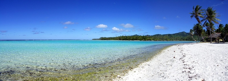 Beach at Huahine, French Polynesia