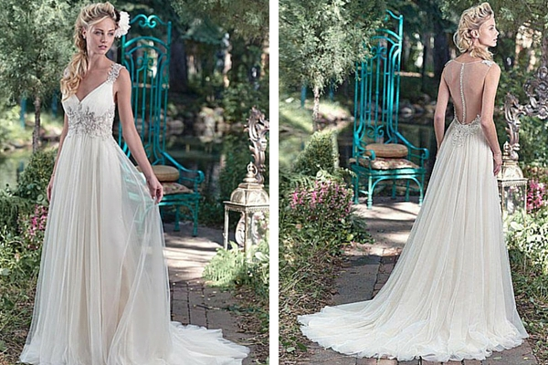 Romantic Maggie Sottero wedding dress