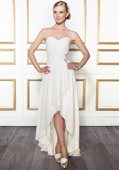High Low wedding dress for destination weddings
