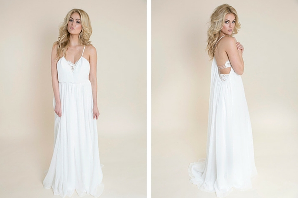 Boho Chic Beach Wedding Dress :: Casual Wedding Dress