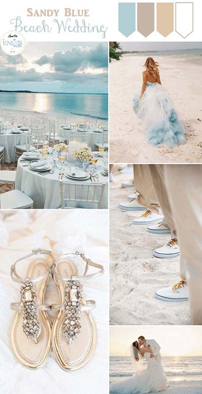 Blue Wedding Colors for Beach Weddings