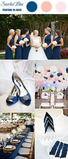 Blue and Pink Beach Wedding
