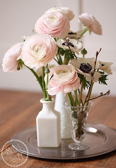 Wedding Flower Ideas | Small Spring Wedding Flower Centerpieces