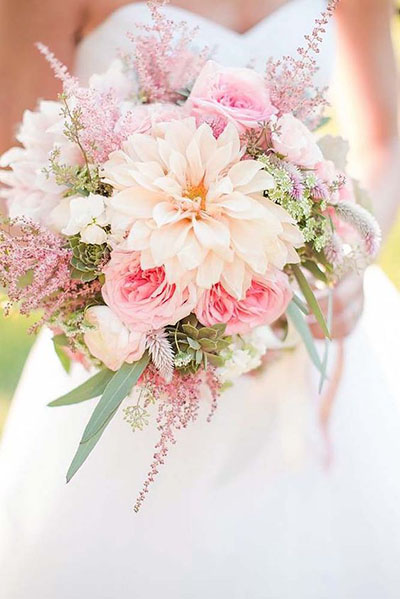 Wedding Flower Ideas | Pink and Blush Bridal Bouquet for Spring Weddings