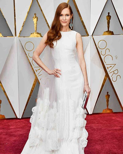 Darby Stanchfield in Georges Chakra  | Oscars | Wedding Fashion