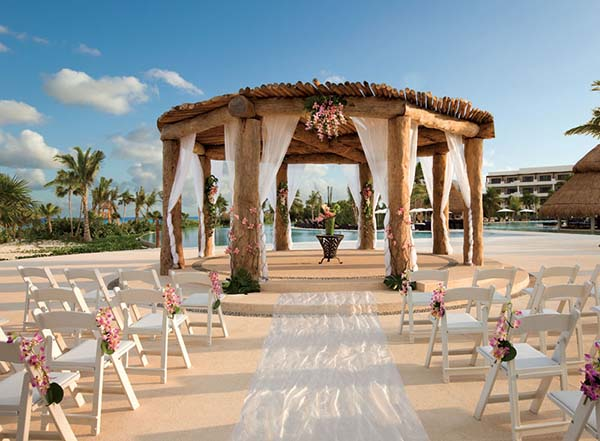 Non Beach Destination Wedding | Caribbean Weddings | Poolside Gazebo Weddings