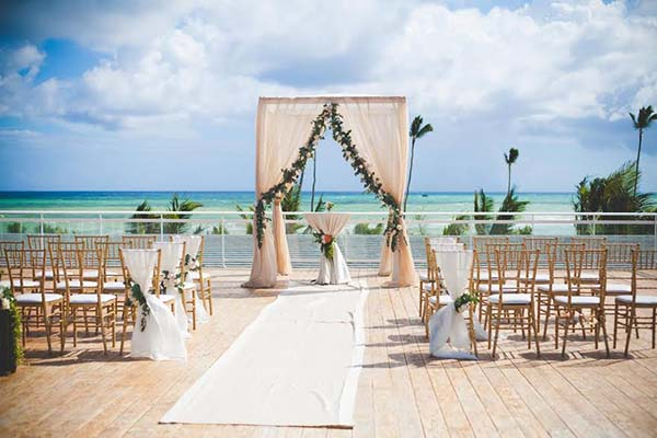 Non Beach Destination Wedding | Caribbean Weddings | Rooftop Terrace Ceremony