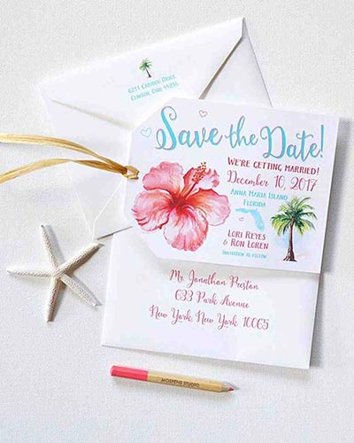 Destination Wedding Guide | Tropical Save the Dates