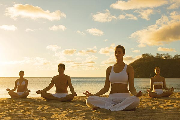 Yoga on the Beach | Destination Wedding Weekend Ideas for Guests
