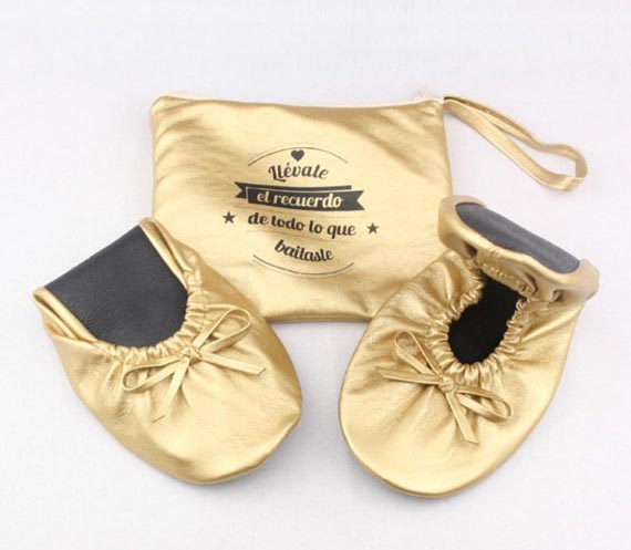 Bridesmaid Gift Ideas | Personalized Roll Up Shoes