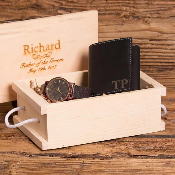 Groomsmen Gift Ideas | Personalized Watch and Wallet Set
