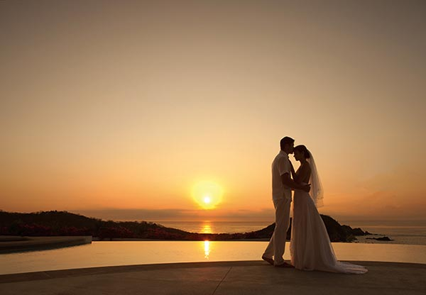 Destination Weddings in Mexico | Rivieria Maya | Sunset Wedding Photos