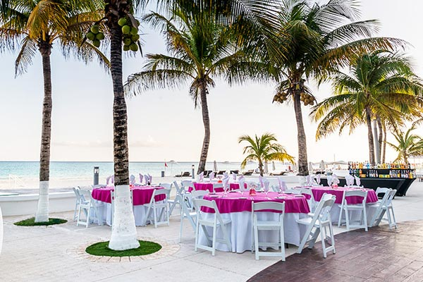 Destination Weddings in Mexico | Rivieria Maya | Beachfront Wedding Reception