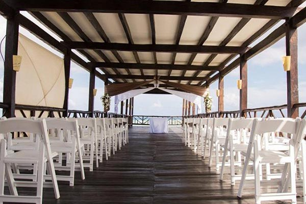 Destination Weddings in Mexico | Rivieria Maya | Pier Wedding Ceremony