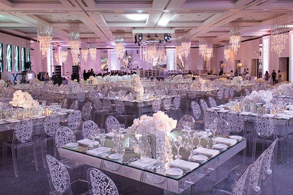 Destination Weddings in Mexico | Rivieria Maya | Elegant Ballroom Wedding Reception
