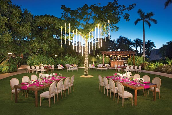 Destination Weddings in Mexico | Rivieria Maya | Garden Reception in Mexico