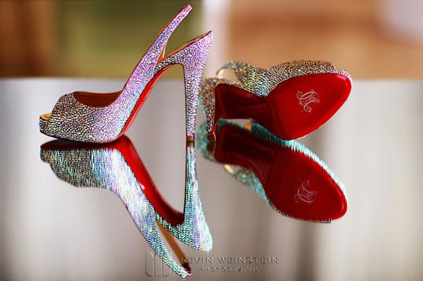 Celebrity Wedding Photos and Ideas: Courtney Mazza Custom Christian Louboutin Wedding Pumps