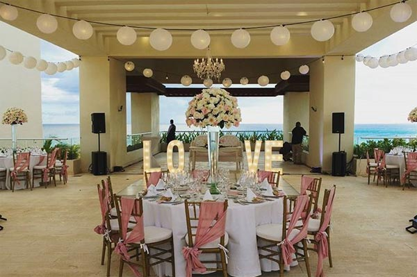 Celebrity Wedding Photos and Ideas: Destination Wedding Reception