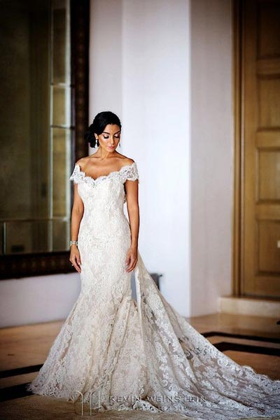 Celebrity Wedding Photos and Ideas: Courtney Mazza in Ines Di Santo Wedding Dress