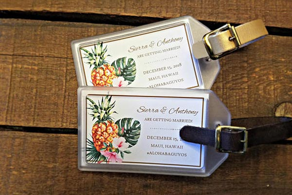 Destination Wedding Ideas | Invitations and Save the Date Designs | Luggage Tag  Save the Dates