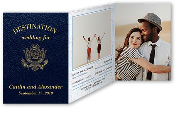 Destination Wedding Ideas | Invitations and Save the Date Designs | Passport Wedding Invitations