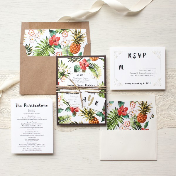 Destination Wedding Ideas | Invitations and Save the Date Designs | Tropical Wedding Invitations