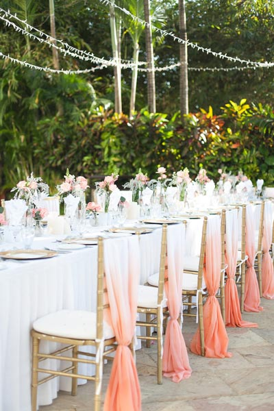Coral Reception Ideas | Coral Wedding Ideas | Pantone Color of the Year | Peach Weddings