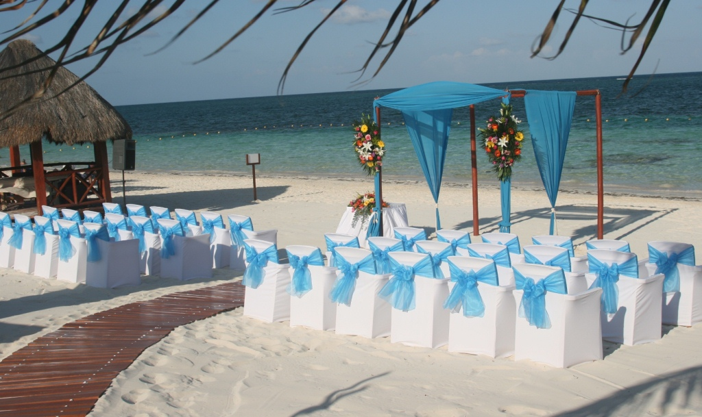classic beachfront ceremony reception for up to 24 guests